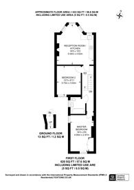 Large floorplan for Pemberton Road, Harringay, N4