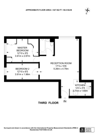 Large floorplan for Judd Street, Bloomsbury, WC1H