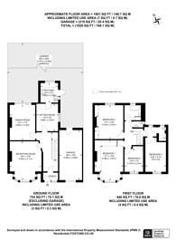 Large floorplan for Queenscourt, Wembley, HA9