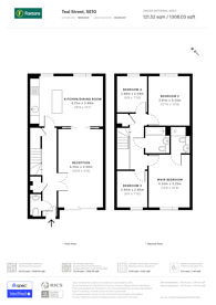 Large floorplan for Teal Street, Greenwich Millennium Village, SE10