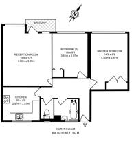 Large floorplan for Bramwell House, Pimlico, SW1V