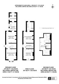 Large floorplan for Leas Road, Guildford, GU1