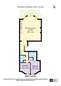 Large floorplan for Pont Street, Knightsbridge, SW1X