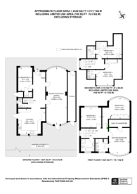 Large floorplan for Dorchester Gardens, Hampstead Garden Suburb, NW11