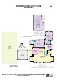 Large floorplan for Templewood Avenue, Hampstead, NW3