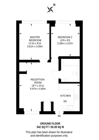 Large floorplan for Sherston Court, Finsbury, WC1X