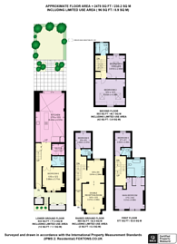 Large floorplan for Barclay Road, Fulham Broadway, SW6