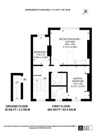 Large floorplan for Brondesbury Villas, Kilburn, NW6