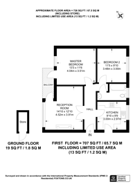 Large floorplan for Beaufort Road, Kingston, KT1
