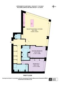 Large floorplan for Peninsula Heights, Vauxhall, SE1