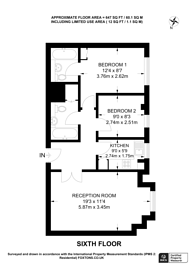 Large floorplan for Shoot Up Hill, Brondesbury, NW2