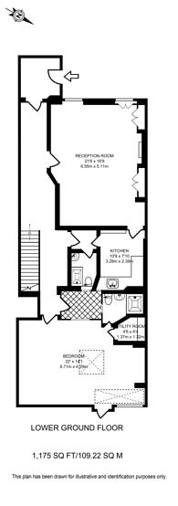 Large floorplan for Great Cumberland Place, Marylebone, W1H