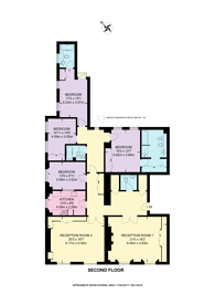 Large floorplan for Eaton Square, Belgravia, SW1W