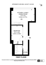 Large floorplan for Centre Heights, Swiss Cottage, NW3