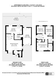 Large floorplan for Burlington Close, Pinner, HA5