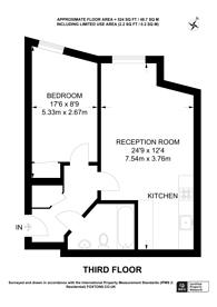 Large floorplan for Lower Mortlake Road, Richmond, TW9