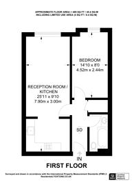 Large floorplan for Trinity Rise, Brixton, SW2