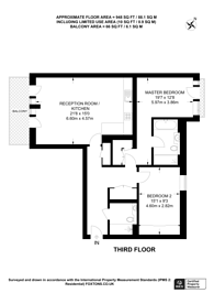 Large floorplan for Carnwath Road, Fulham, SW6