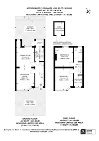 Large floorplan for Maybank Avenue, Sudbury, HA0