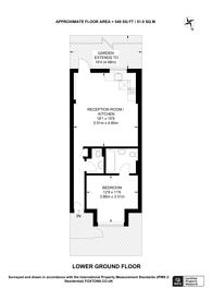 Large floorplan for Beethoven Street, Queen's Park, W10