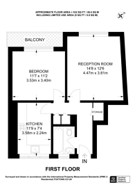 Large floorplan for Rosebery Avenue, Clerkenwell, EC1R