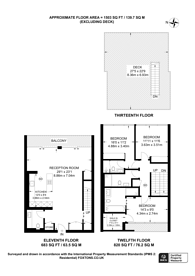Large floorplan for Finchley Road, South Hampstead, NW3