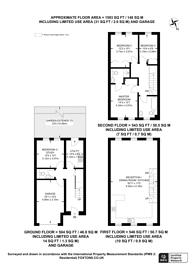Large floorplan for Regents Bridge Gardens, Vauxhall, SW8
