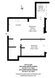 Large floorplan for Long Street, Shoreditch, E2