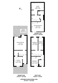 Large floorplan for Silverworks Close, Colindale, NW9