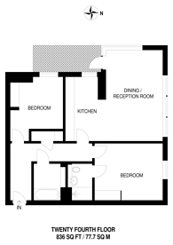 Large floorplan for Harbour Central, Canary Wharf, E14