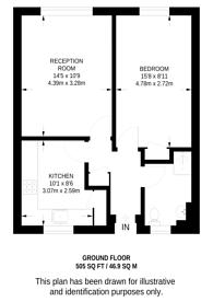 Large floorplan for Mile End Road, Whitechapel, E1