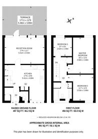 Large floorplan for Queens Crescent, Camden, NW5