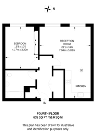Large floorplan for Islington Square, Angel, N1