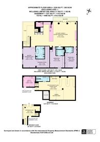 Large floorplan for Hardwicks Square, Wandsworth Town, SW18