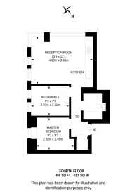Large floorplan for Green Dragon House, Croydon, CR0