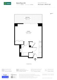 Large floorplan for Wardian, Canary Wharf, E14