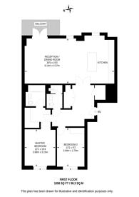 Large floorplan for Wimbledon Hill Park, Wimbledon, SW20