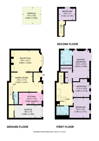 Large floorplan for Stanhope Mews East, South Kensington, SW7