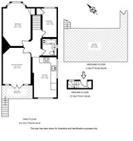 Large floorplan for Ravenscroft Road, Chiswick, W4