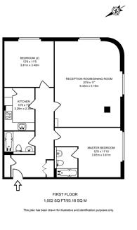 Large floorplan for Gainsford Street, Shad Thames, SE1