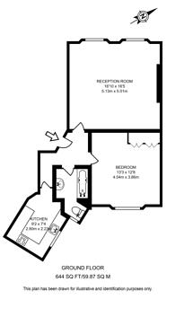 Large floorplan for Sussex Gardens, Lancaster Gate, W2