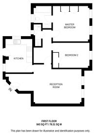 Large floorplan for Pelham Court, Chelsea, SW3