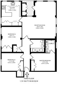 Large floorplan for Hyde Park Gate, South Kensington, SW7