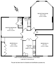 Large floorplan for Thurlow Road, Hampstead, NW3