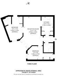 Large floorplan for Commercial Road, Aldgate, E1