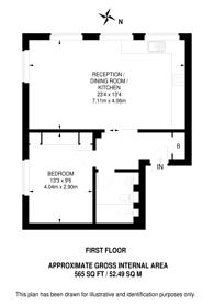 Large floorplan for Charlotte Street, Fitzrovia, W1T