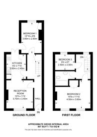 Large floorplan for Nursery Road, SW9, Brixton, SW9