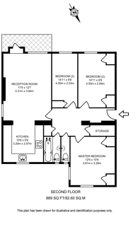Large floorplan for Montrose Crescent, North Finchley, N12