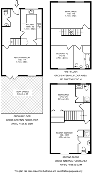 Large floorplan for Worcester Drive, Chiswick, W4