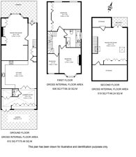 Large floorplan for Bournemouth Road, Wimbledon, SW19